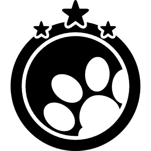 animal symbole de l 39 h tel avec trois toiles t l charger icons gratuitement. Black Bedroom Furniture Sets. Home Design Ideas