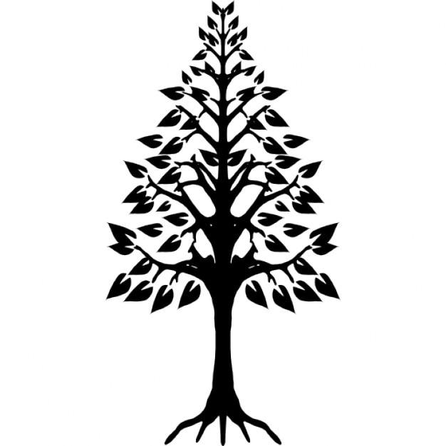 arbre forme triangulaire avec des racines t l charger icons gratuitement. Black Bedroom Furniture Sets. Home Design Ideas
