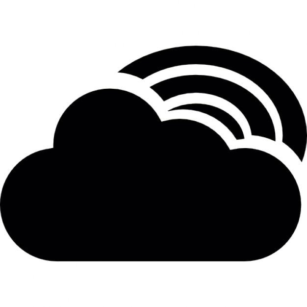 Arc en ciel derri re un nuage t l charger icons gratuitement - Image arc en ciel gratuite ...
