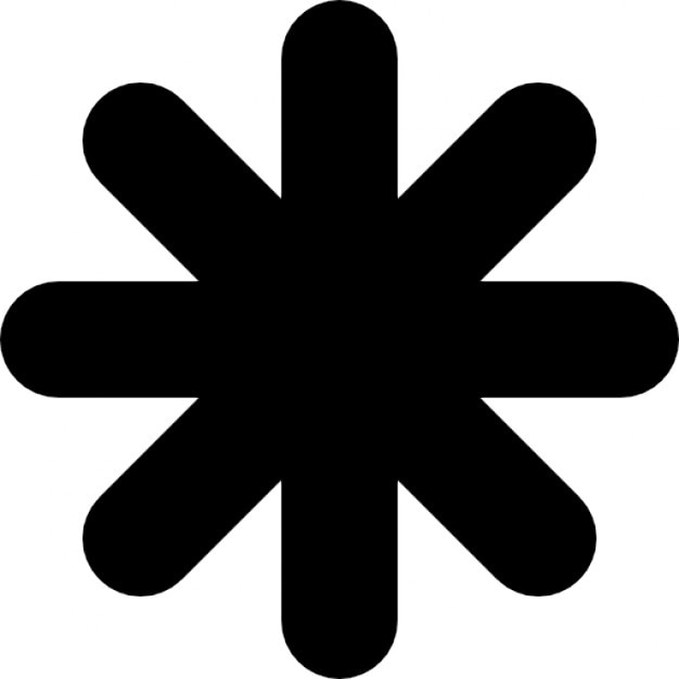 Astrisque Forme Dtoile Noire  Tlcharger Icons -8746