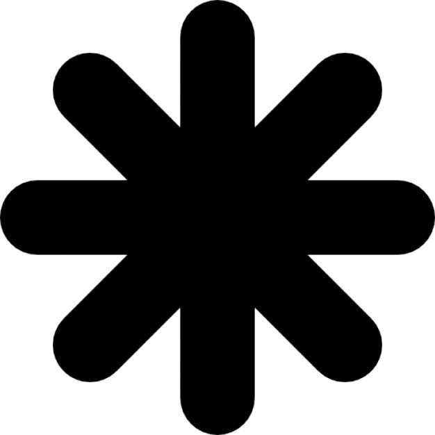 Astrisque Forme Dtoile Noire  Tlcharger Icons -3046