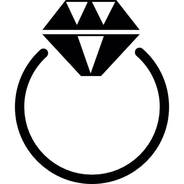 bague avec diamant pierre prcieuse icon gratuit - 45 Ans De Mariage Pierre Precieuse