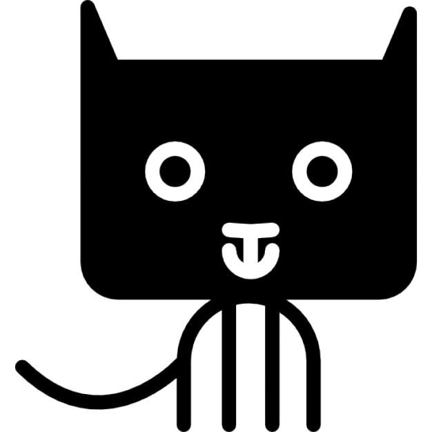 Bande dessin e de chat de t te arrondie rectangulaire t l charger icons gratuitement - Telecharger image de chat gratuit ...