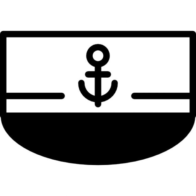 Bateau vue de face avec le signe de l 39 ancre t l charger icons gratuitement - Ancre de bateau dessin ...