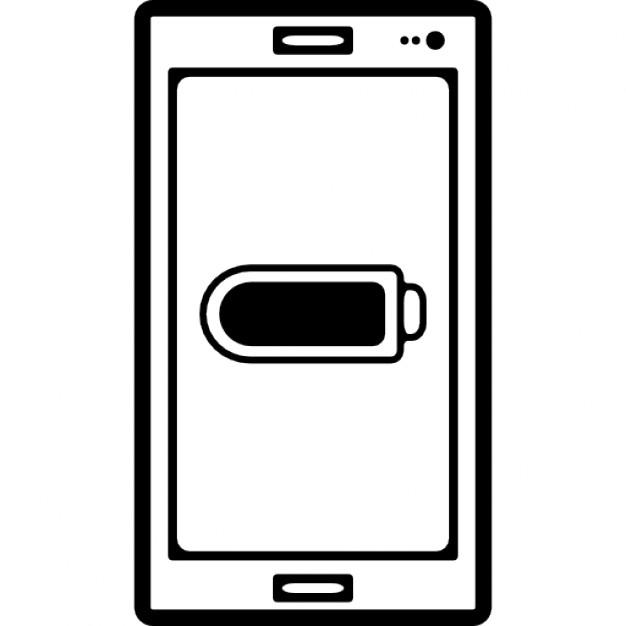 batterie de t l phone symbole de statut plein ou vide l 39 cran t l charger icons gratuitement. Black Bedroom Furniture Sets. Home Design Ideas
