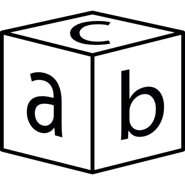Bloc avec lettres | Télécharger Icons gratuitement