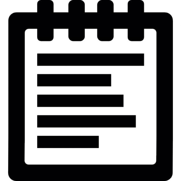 Bloc notes t l charger icons gratuitement - Telecharger un bloc note pour le bureau ...