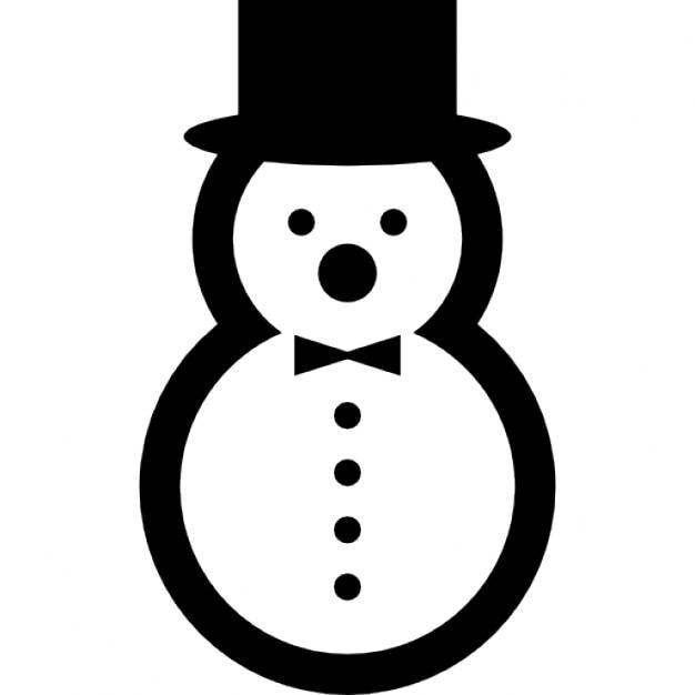 Bonhomme de neige avec chapeau l gant et un arc - Chapeau bonhomme de neige ...