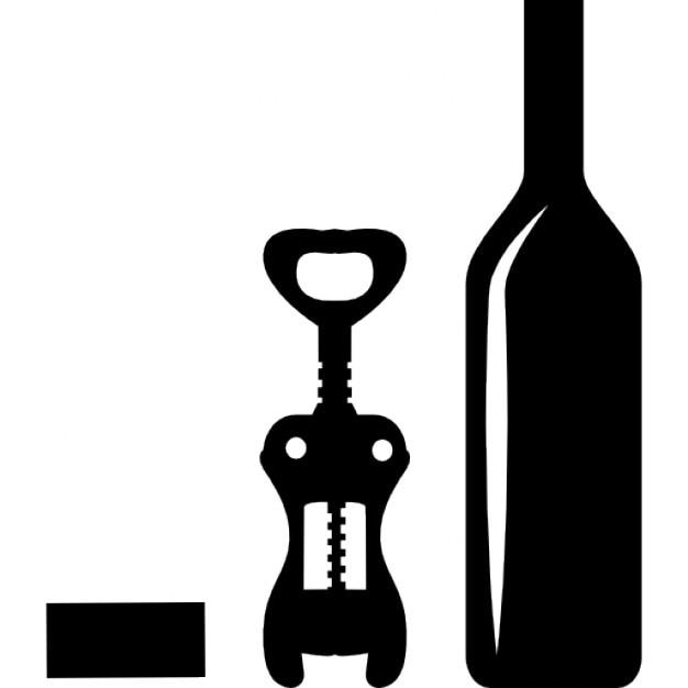 bouteille de vin et ouvre t l charger icons gratuitement. Black Bedroom Furniture Sets. Home Design Ideas