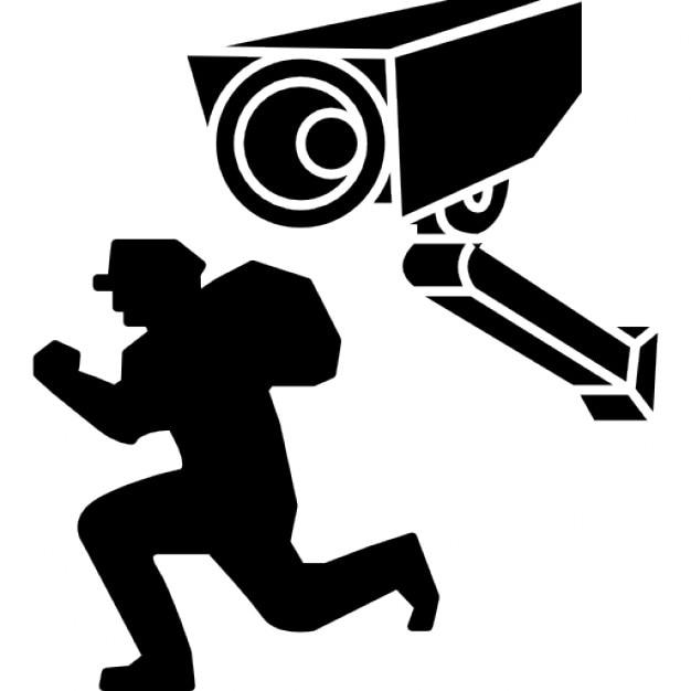Caméra de surveillance filmant un voleur Icon gratuit
