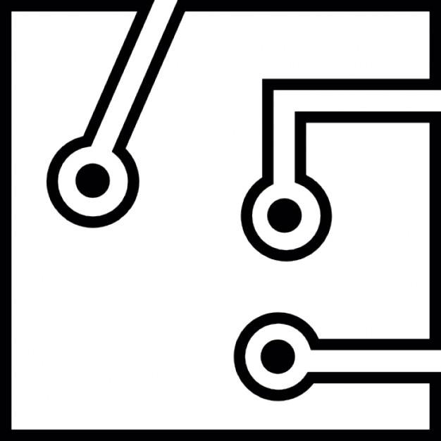 carte de circuit imprim u00e9 avec des contours blancs d u00e9taill u00e9s