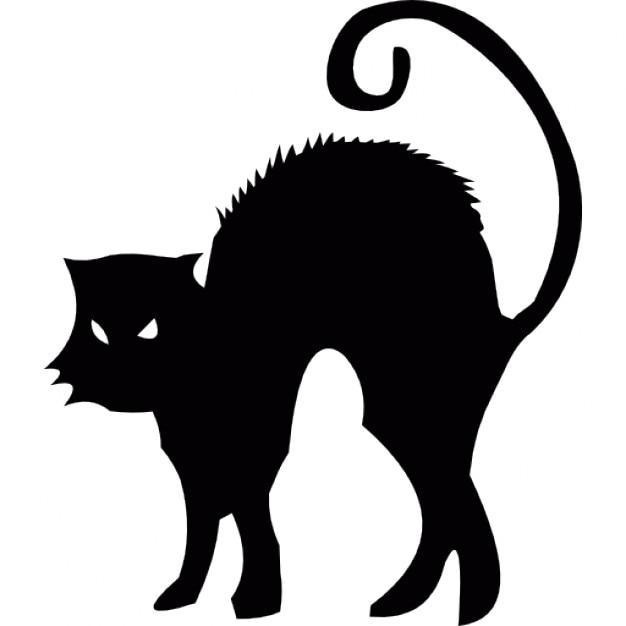 Chat noir halloween t l charger icons gratuitement - Dessin chat halloween ...