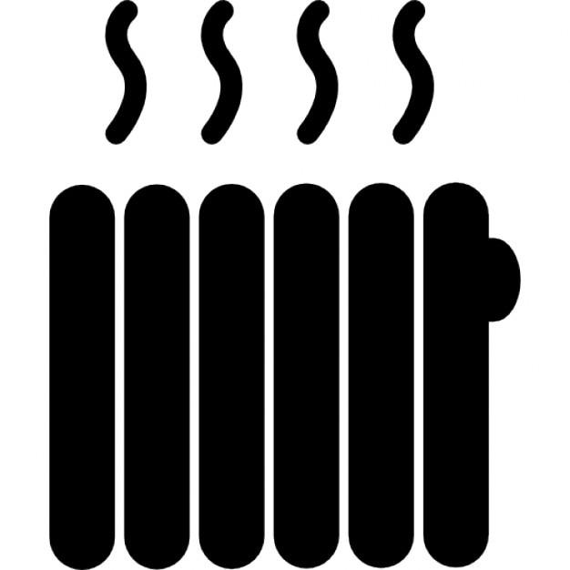 Chauffage outil noir Icon gratuit