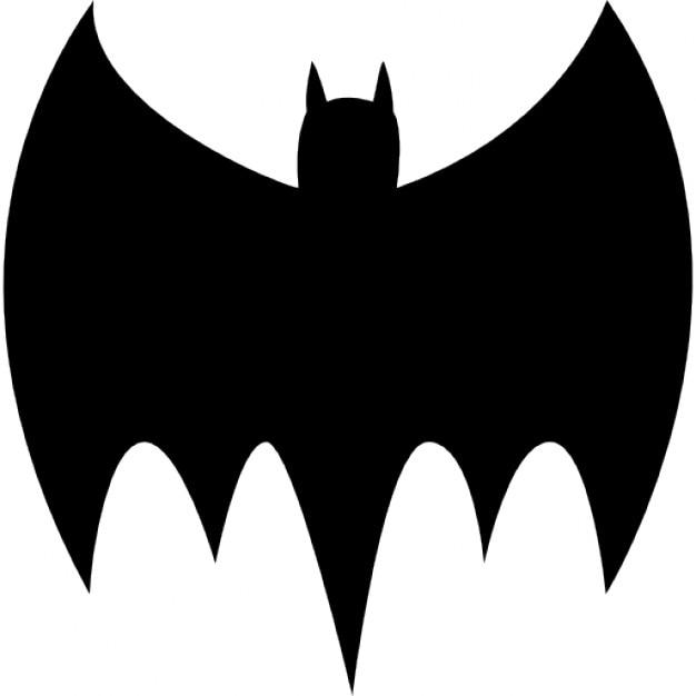 Chauve souris silhouette noire t l charger icons - Modele dessin chauve souris ...