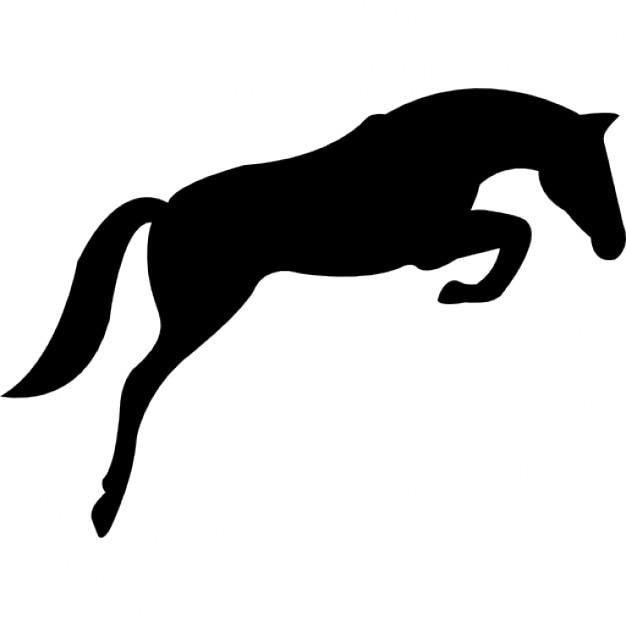 dessin cheval qui saute