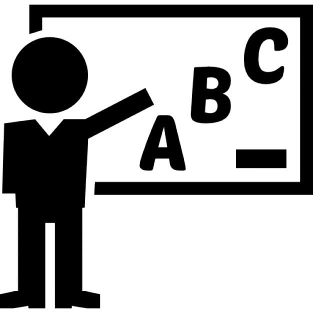 classe d 39 enseignement de professeur de grammaire sur un tableau blanc t l charger icons. Black Bedroom Furniture Sets. Home Design Ideas