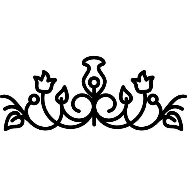 cloches de fleurs avec la conception des vignes