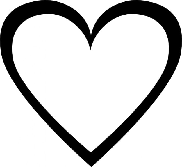C ur simple t l charger icons gratuitment - Image de coeur a colorier ...