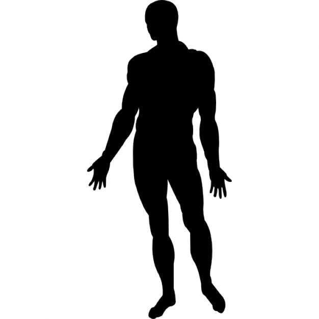Corps humain debout silhouette noire | Télécharger Icons