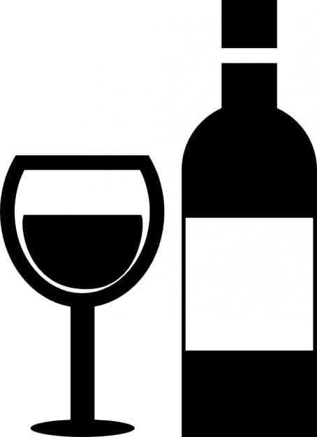 coupe de vin et une bouteille de verre t l charger icons. Black Bedroom Furniture Sets. Home Design Ideas