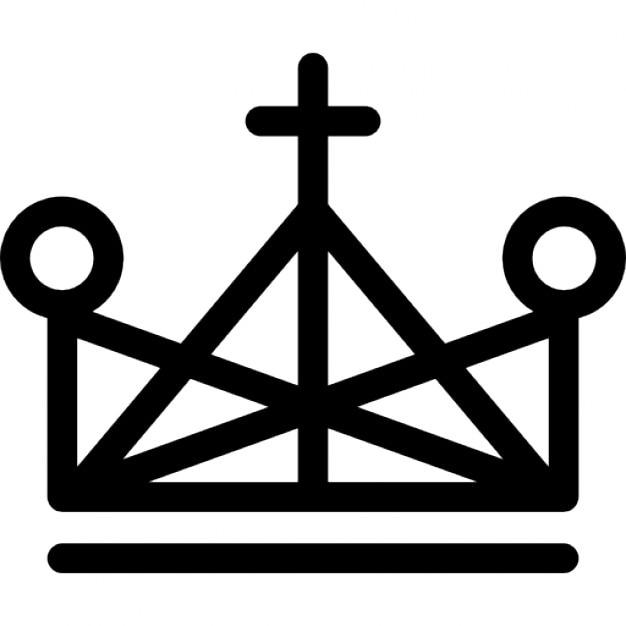 couronne de triangle d crit avec la croix et de petits cercles t l charger icons gratuitement. Black Bedroom Furniture Sets. Home Design Ideas