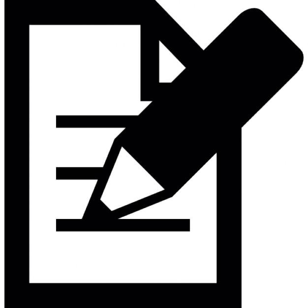 Crayon 233 Crit Sur Une Feuille De Papier T 233 L 233 Charger Icons