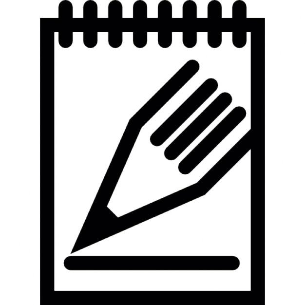 Crayon et bloc notes t l charger icons gratuitement - Telecharger un bloc note pour le bureau ...