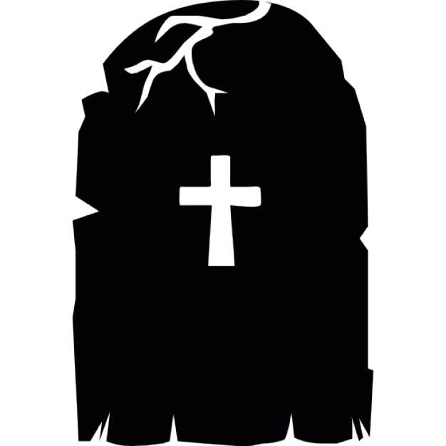 Croix sur une pierre tombale effrayant pour halloween t l charger icons gratuitement - Pierre tombale halloween ...