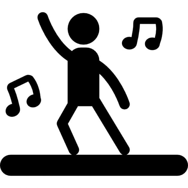Célèbre Danseur avec de la musique | Télécharger Icons gratuitement BX03