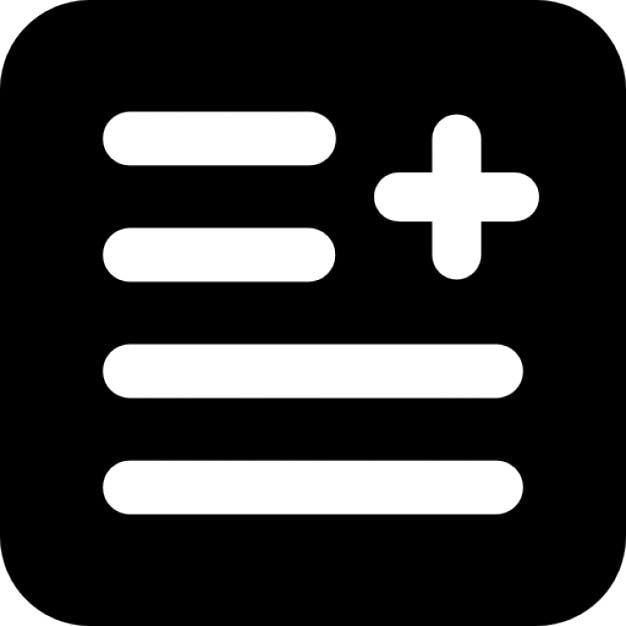 document texte bouton ajouter avec signe plus