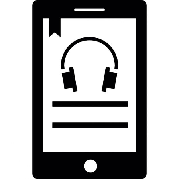 couter de la musique en utilisant t l phone portable t l charger icons gratuitement. Black Bedroom Furniture Sets. Home Design Ideas