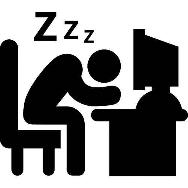 employ de bureau de dormir sur son bureau au travail t l charger icons gratuitement. Black Bedroom Furniture Sets. Home Design Ideas