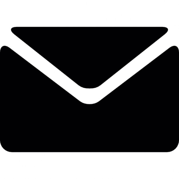 Enveloppe noire Icon gratuit