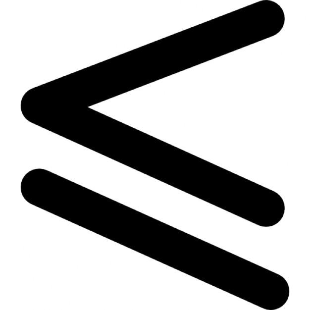 Est inférieur ou égal au symbole mathématique | Télécharger Icons ...