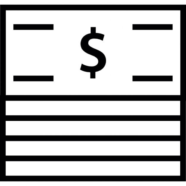 Factures papier en dollars pile   Télécharger Icons ...