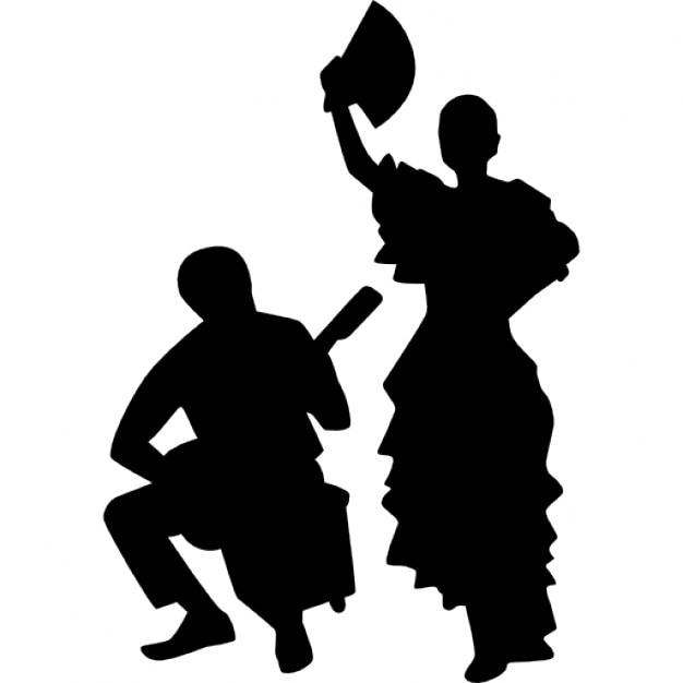 Flamenco quelques une danseuse et un joueur de guitare for Musique barre danse classique gratuite