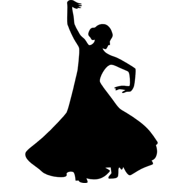 Souvent Flamenco silhouette féminine danseur avec le bras droit levé  MK25