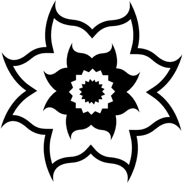 fleur avec des p u00e9tales courbes