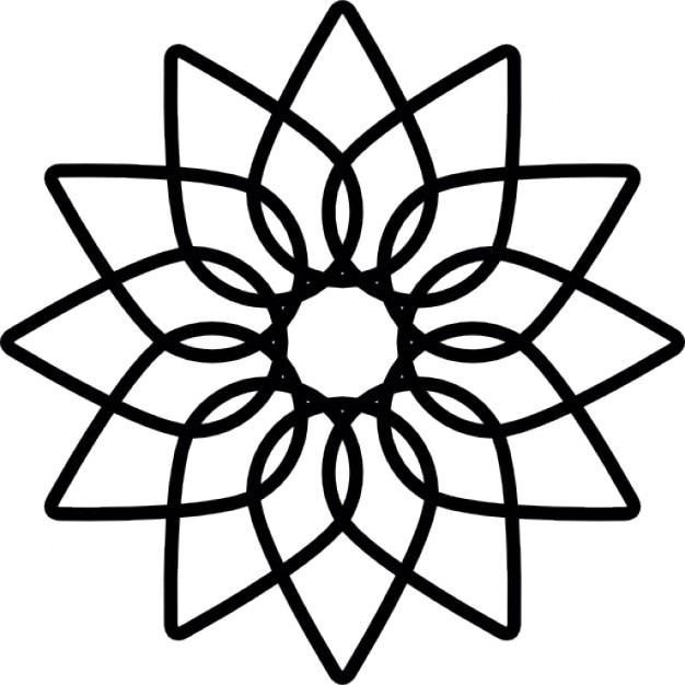 Fleur g om trique t l charger icons gratuitement - Coloriage fleur geometrique ...
