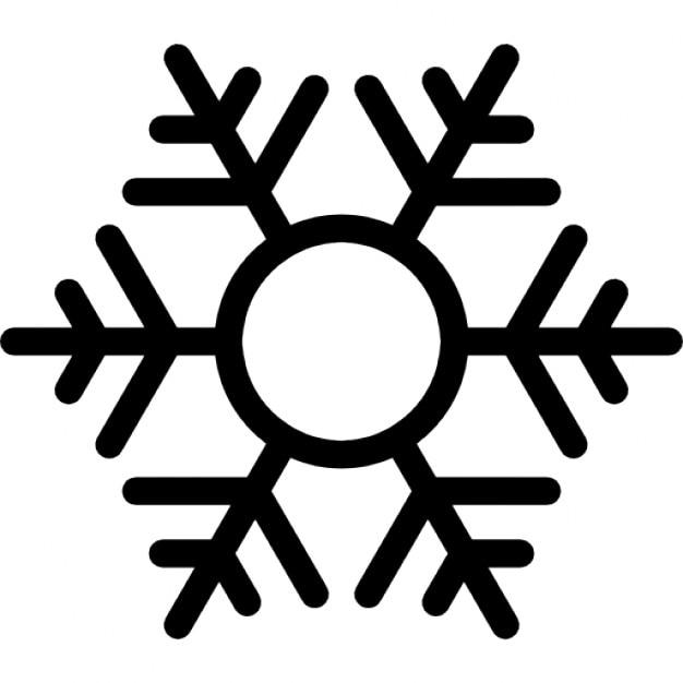 Excellent Flocon de neige avec le centre rond | Télécharger Icons gratuitement GV15