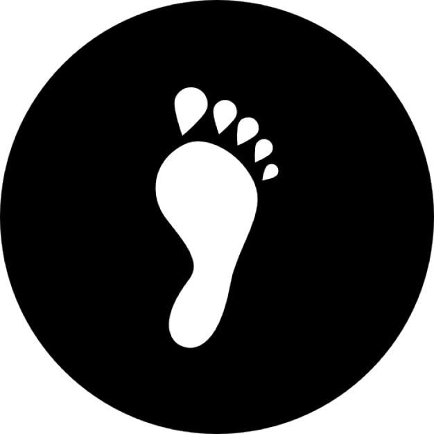 forme de l 39 empreinte d 39 un pied humain l 39 int rieur d 39 un cercle t l charger icons gratuitement. Black Bedroom Furniture Sets. Home Design Ideas