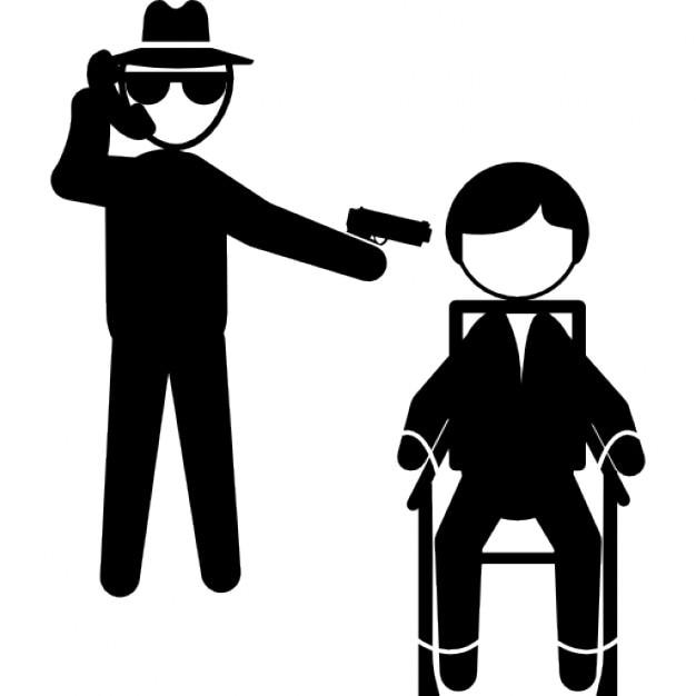 Gangster parler par t l phone et montrant avec un bras for Abdos assis sur une chaise