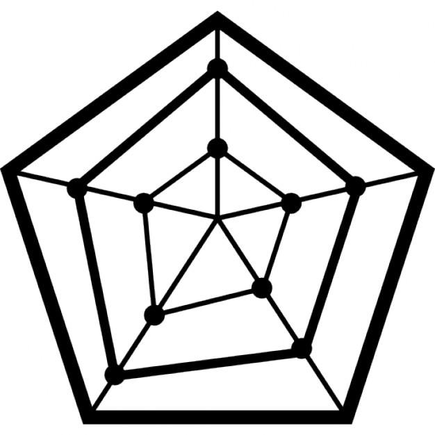 graphique en radar avec une forme pentagone t l charger icons gratuitement. Black Bedroom Furniture Sets. Home Design Ideas