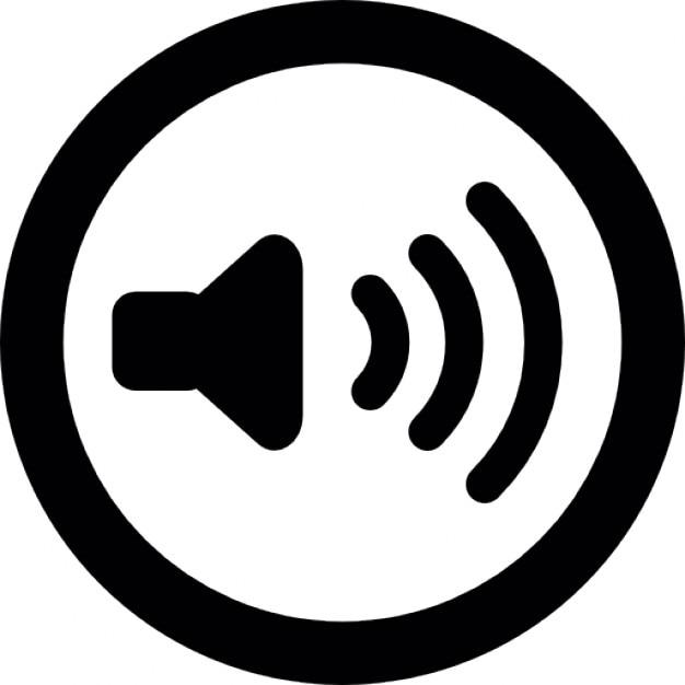 Haut Parleur Avec Des Ondes Sonores Dans Un Contour