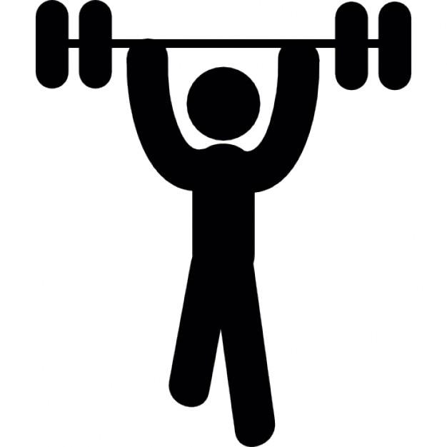 Homme sportive porter le poids t l charger icons gratuitement - Surveiller votre poids gratuit ...