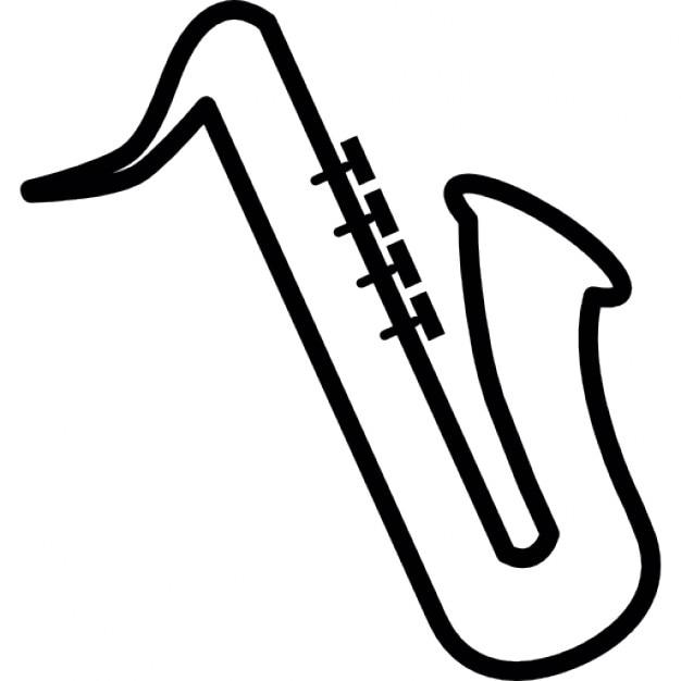 Instrument de musique saxophone symbole ios 7 de l - Saxophone dessin ...