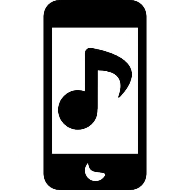 iphone avec note de musique t l charger icons gratuitement. Black Bedroom Furniture Sets. Home Design Ideas