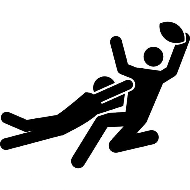 Joueurs de rugby qui se battent pour le ballon t l charger icons gratuitement - Dessin de joueur de rugby ...