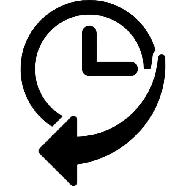 l 39 historique de navigation de l 39 interface symbole d 39 une horloge avec une fl che t l charger. Black Bedroom Furniture Sets. Home Design Ideas
