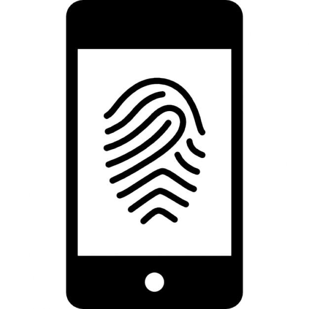 L 39 image des empreintes digitales sur t l phone mobile for Image pour telephone portable gratuit